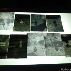 Fotografía antigua: LOTE 9 PLACAS GELATINO BROMURO SOBRE 1930. FAMILIA BURGUESA ESPAÑOLA A IDENTIFICAR.. Lote 187384531