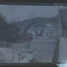 Fotografía antigua: CAMPRODON - PONT NOU - NEGATIVO EN CRISTAL 9 X 12, INICIO SIGLO XX. Lote 189077030