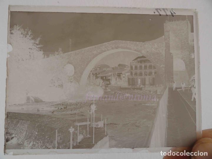 Fotografía antigua: CAMPRODON - PONT NOU - NEGATIVO EN CRISTAL 9 x 12, inicio siglo XX - Foto 2 - 189077030
