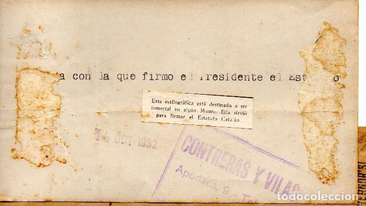 Fotografía antigua: 1932 ORIGINAL FOTOGRAFIA REPUBLICA CATALANA FIRMA ESTATUTO CATALAN GUERRA CIVIL REPUBLICA ESPAÑOLA - Foto 2 - 190184498