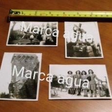 Fotografía antigua: FOTO AÑOS 40 TARRAGONA TORRE Y BALCON DEL MEDITERRÁNEO , PROCESIÓN VIERNES SANTO FRANCO. Lote 190492215