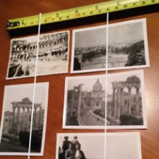 Fotografía antigua: FOTO FECHADA ROMA TEMPLO SATURNO , COLISEO ROMANO , AÑOS 50 ITALIA EUROPA TAMAÑO 9 CM X 6 CM.. Lote 190763016