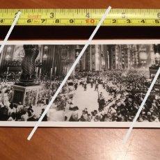 Fotografía antigua: FOTO PANORÁMICA AÑOS 50 BASÍLICA DE SANT PIETRO ITALIA EUROPA TAMAÑO 17 CM X 6,5 CM.. Lote 190764000