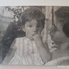 Fotografía antigua: RETRATO MADRE E HIJO CON IMAGEN SUPERPUESTA . Lote 191393151