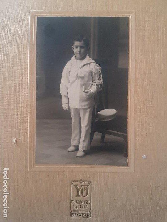 RETRATO PRIMERA COMUNION NIÑO YO FOTOGRAFO MADRID (Fotografía Antigua - Gelatinobromuro)