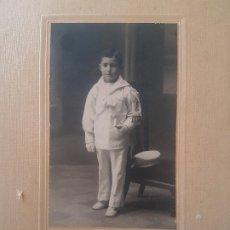 Fotografía antigua: RETRATO PRIMERA COMUNION NIÑO YO FOTOGRAFO MADRID. Lote 191394578