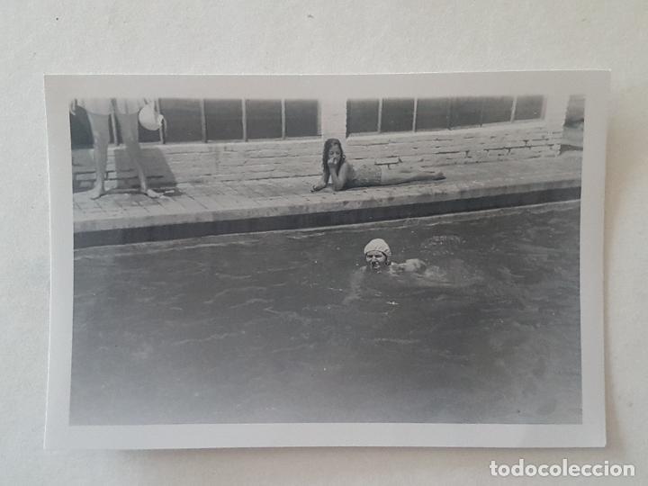 MUJER BAÑISTA PISCINA 1948 FOTOGRAFIA (Fotografía Antigua - Gelatinobromuro)