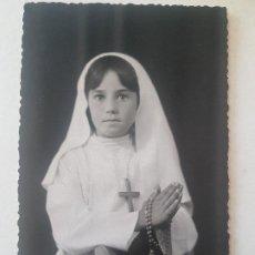 Fotografía antigua: RECORDATORIO PRIMERA COMUNION NIÑA ANTONIO FOTOGRAFO LA LINEA. Lote 191400063