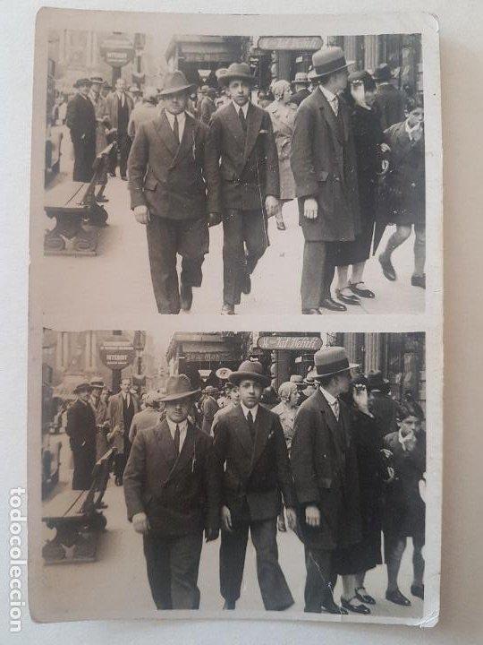 RETRATO DOS HOMBRES AÑOS 30 PARIS FOTOGRAFIA MINUTERO (Fotografía Antigua - Gelatinobromuro)