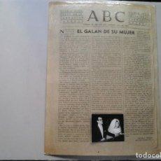 Fotografía antigua: AUGUSTO ALGUERÓ. CARMEN SEVILLA. ARTÍCULO ABC J.M. PEMÁN Y FOTOGRAFÍA ORIGINAL MONTADA. MUY RARO.. Lote 192641200