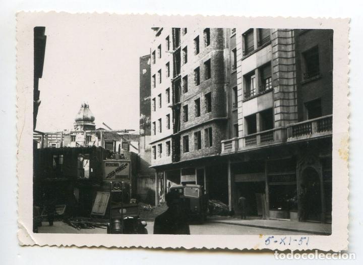 SANTANDER, RECONSTRUCCIÓN CALLE JUAN DE HERRERA DESPUÉS DEL INCENDIO, 1951 (Fotografía Antigua - Gelatinobromuro)