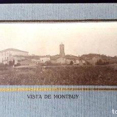 Fotografía antigua: ALBUM - IGUALADA - MONTBUY - 1920 - RECORDANÇA PRIMERA COMUNIÓ AMB FOTOGRAFIES. Lote 194004386