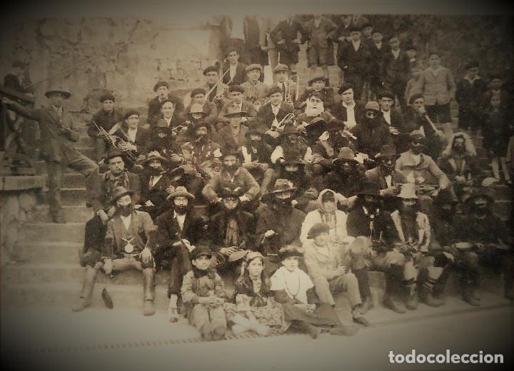 NAVARRA.VERA DE BIDASOA. FOTOGRAFIA DE I.FADRIQUE. IRUN. CARNAVALES 17X24CM. (Fotografía Antigua - Gelatinobromuro)