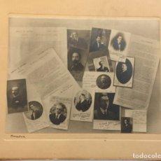 Fotografía antigua: ANTIGUA FOTOGRAFIA DE EMPLEADOS DEL BANCO DE ESPAÑA 1919-20. FOTOGRAFO AMADOR. Lote 194386245