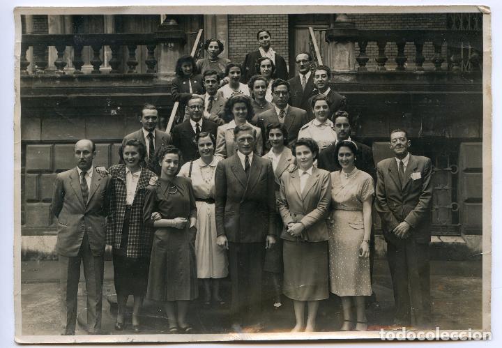 FOTO DE GRUPO. CIRCA 1950. FOTO GOICOECHEA, CRISTO, 17. BILBAO (Fotografía Antigua - Gelatinobromuro)