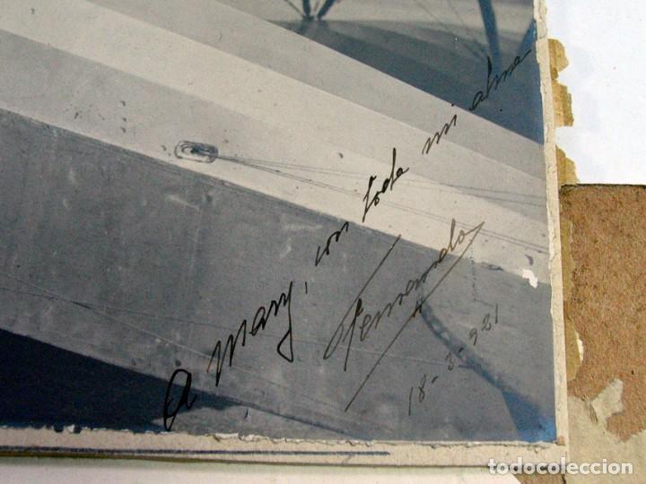 Fotografía antigua: AVIADOR EN SU AEROPLANO. 1921. DEDICADA Y FIRMADA. 1921. GIJÓN ? ASTURIAS ? AVIACIÓN - Foto 2 - 194525123