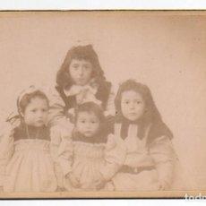 Fotografía antigua: GRUPO DE 4 HERMANAS. A. ORTEGA FOTÓGRAFO.. Lote 194529090
