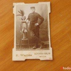 Fotografía antigua: SOLDADO MILITAR- FOTOGRAFIA MELILLA. Lote 195141677