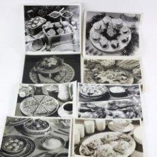 Fotografía antigua: GATRONOMÍA. 18 FOTOGRAFÍAS DE POSTRES Y COMIDAS. FOTOS: CUNNINGHAM Y OTROS. 1930'S. 20X26 CM. Lote 195185465