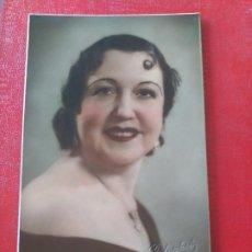 Fotografía antigua: SEÑORA CON CARACOLILLO. ROTOPHOT. Lote 195399440