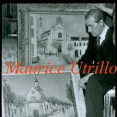 Fotografía antigua: MAURICE UTRILLO - RETRATO . Lote 196042091