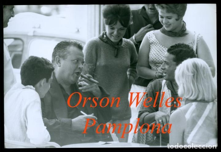 ORSON WELLES - PAMPLONA - 1960'S (Fotografía Antigua - Gelatinobromuro)