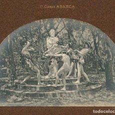 Fotografía antigua: PERE CASAS ABARCA (1875-1958) MODERNISMO. GRUPO DESNUDO EN RITUAL, 1903 APROX.. Lote 197245697