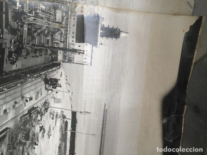 Fotografía antigua: ANTIGUA GIGANTEZCA FOTOGRAFIA ORIGINAL TAMAÑO POSTER ASTILLEROS ESPAÑOLES CADIZ BARCO - Foto 22 - 197413855