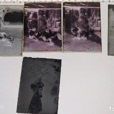 Photographie ancienne: CAJA DE 5 PLACAS DE CRISTAL NEGATIVAS 6,5X9 Y 7 NEGATIVOS. Lote 197451600
