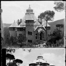 Fotografía antigua: CATALUÑA. CONSTRUCCIÓN DE UNA TORRE POR IDENTIFICAR, 1900 APROX. 10 NEGATIVOS 13X18 CM.. Lote 198082207
