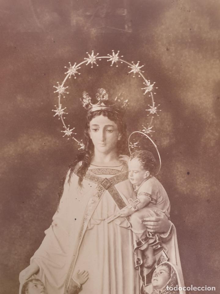 Fotografía antigua: Preciosa Virgen con Niños - Antigua Fotografía - Principios S. XX - Foto 3 - 198281273
