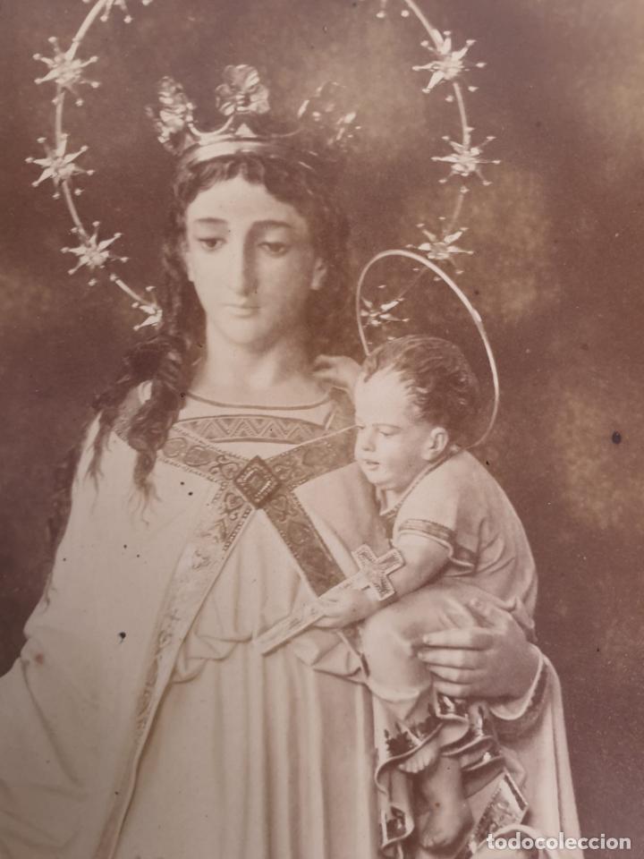 Fotografía antigua: Preciosa Virgen con Niños - Antigua Fotografía - Principios S. XX - Foto 5 - 198281273