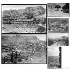 Fotografía antigua: CASTELLOTE, PROVINCIA DE TERUEL 1915 APROX. 6 NEGATIVOS DE CRISTAL 10X15CM.. Lote 198982097