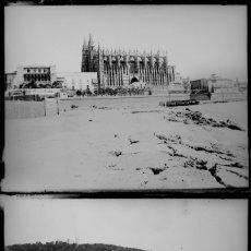 Fotografía antigua: PALMA DE MALLORCA, 1920'S. 2 CRISTALES NEGATIVOS 9X12 CM.. Lote 199189326