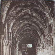Fotografía antigua: FOTOGRAFIA ORIGINAL. MONASTERIO DE POBLET. TARRAGONA. HACIA 1930.. Lote 199191651