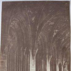 Fotografía antigua: FOTOGRAFIA ORIGINAL MONASTERIO DE POBLET. TARRAGONA. HACIA 1930.. Lote 199192027