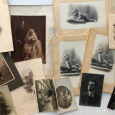 Fotografía antigua: CATALUÑA, LOTE DE 70 FOTOGRAFÍAS VARIADAS FAMILIARES. 1910-1980.. Lote 199202246