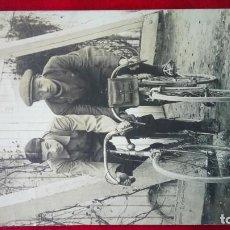 Fotografía antigua: TIPOS EN BICICLETA CARRERAS. . Lote 201641457
