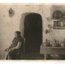 Fotografía antigua: GUADIX - INTERIOR DE UNA CUEVA, 1930'S. FOTOGRAFÍA: OTTO WUNDERLICH (STUTTGART 1886 - MADRID 1975). Lote 201973065