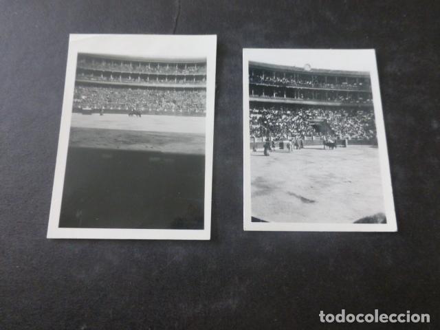 Fotografía antigua: ZARAGOZA CONJUNTO 6 FOTOGRAFIAS PLAZA DE TOROS CORRIDA GUERRA CIVIL POR SOLDADO LEGION CONDOR - Foto 2 - 204062031