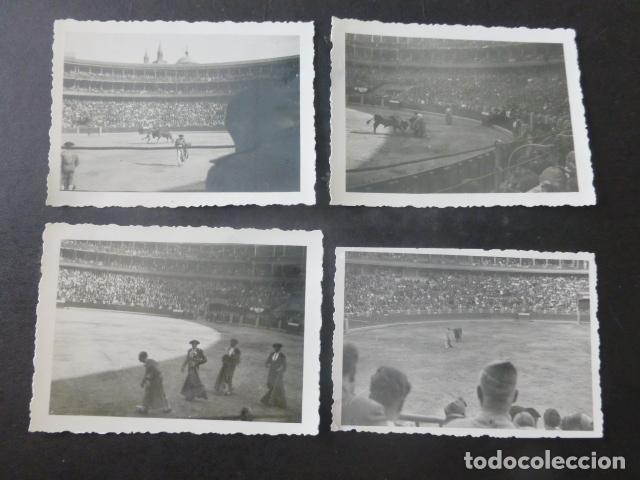 ZARAGOZA CONJUNTO 6 FOTOGRAFIAS PLAZA DE TOROS CORRIDA GUERRA CIVIL POR SOLDADO LEGION CONDOR (Fotografía Antigua - Gelatinobromuro)