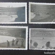 Fotografía antigua: ZARAGOZA CONJUNTO 6 FOTOGRAFIAS PLAZA DE TOROS CORRIDA GUERRA CIVIL POR SOLDADO LEGION CONDOR. Lote 204062031