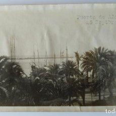 Fotografía antigua: ALICANTE PUERTO 1927. Lote 204693085