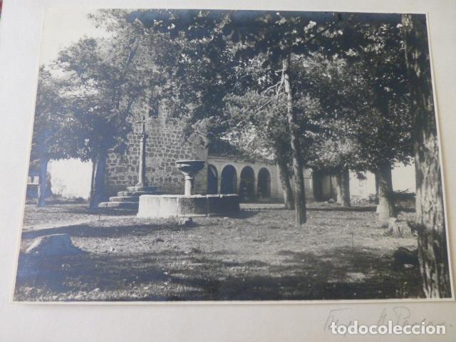 RASCAFRIA MADRID MONASTERIO DEL PAULAR ANTIGUA FOTOGRAFIA 1943 POR VIAJERO ALEMAN (Fotografía Antigua - Gelatinobromuro)
