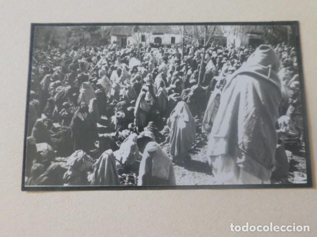 XAUEN MARRUECOS 1934 FOTOGRAFIA POR VIAJERO ALEMAN 4,5 X 8 CMTS MONTADA SOBRE CARTON (Fotografía Antigua - Gelatinobromuro)