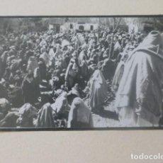 Fotografía antigua: XAUEN MARRUECOS 1934 FOTOGRAFIA POR VIAJERO ALEMAN 4,5 X 8 CMTS MONTADA SOBRE CARTON. Lote 205404096