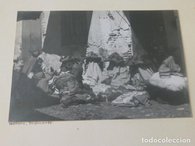 TETUAN MARRUECOS 1934 FOTOGRAFIA POR VIAJERO ALEMAN 11,5 X 17 CMTS MONTADA SOBRE CARTON (Fotografía Antigua - Gelatinobromuro)