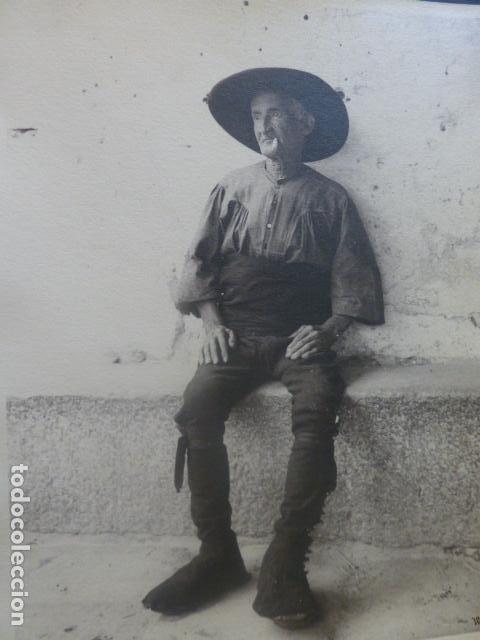LAGARTERA TOLEDO TIPO FOTOGRAFIA OTTO WUNDERLICH FIRMADA 18 X 24 CMTS (Fotografía Antigua - Gelatinobromuro)