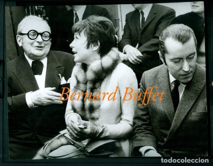 BERNARD BUFFET - SHIRLEY MACLAINE - FOTOGRAFIA 1962 (Fotografía Antigua - Gelatinobromuro)