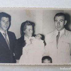 Fotografía antigua: GRUPO FAMILIAR BAUTISMO VALLECAS MADRID FOTOGRAFO SAEZ. Lote 205766978